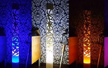PVC Pipe Lamp With Your Own Hands. With RGB and Bluetooth Speaker
