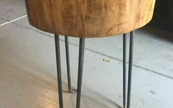 DIY Wood Stump Side Table