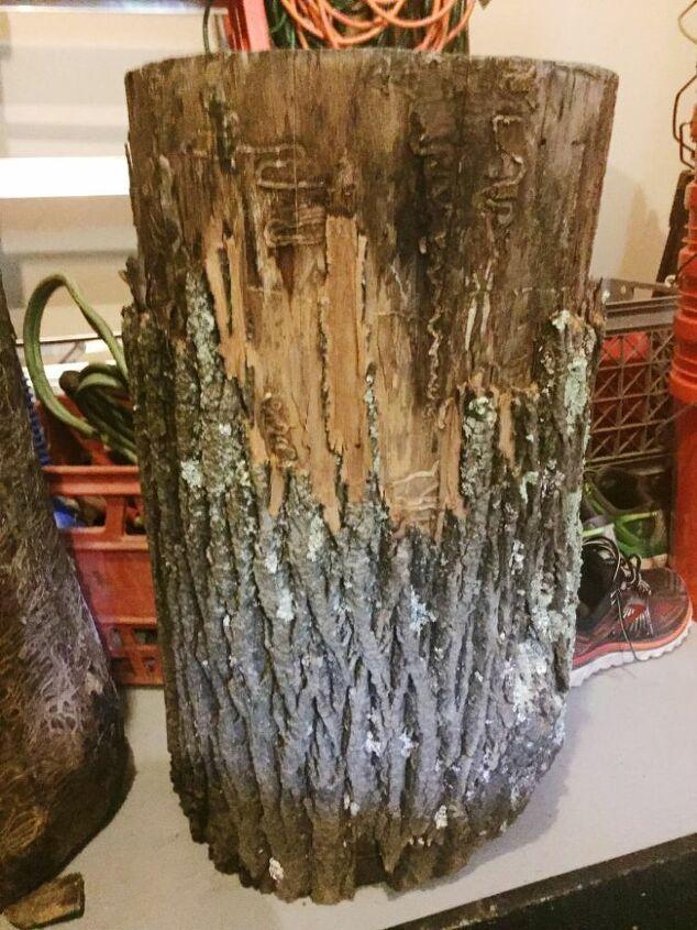 diy wood stump side table