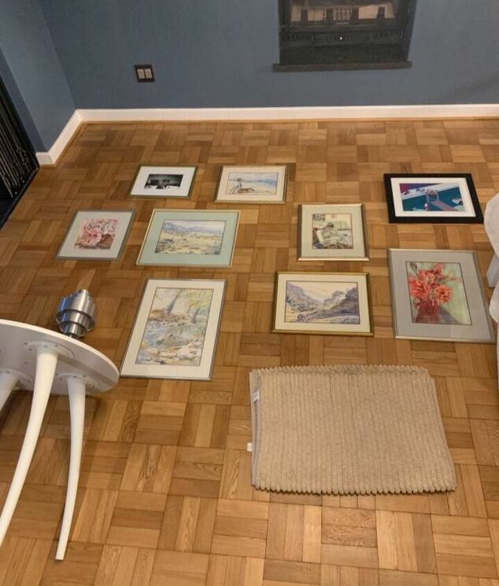 hang a picture gallery without making cutouts