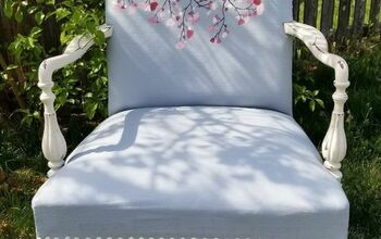 Let's Update an Old Chair! How to Paint Fabric Using Chalk Paint