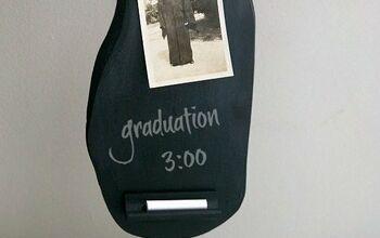 Repurposed Chalkboard Memo Stand