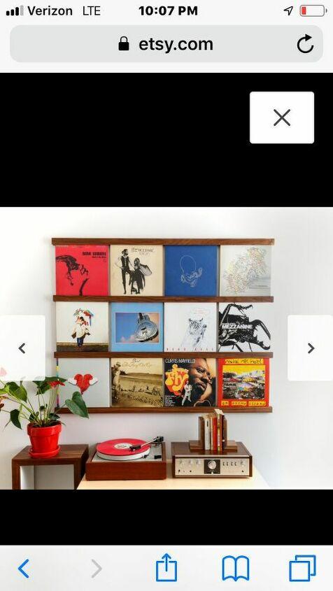 q vinyl record diy shelf