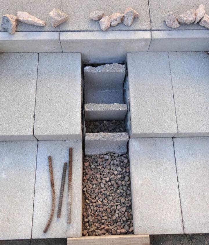 concrete wheelbarrow ramp
