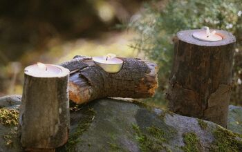 How to Make Rustic Log Tealight Holders