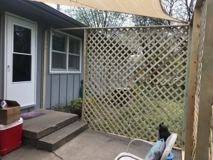 q how do i get shade over my patio without making it too dark inside