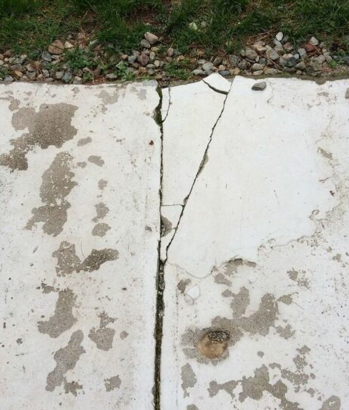 q how do i repair and paint the concrete patio slab in my back yard