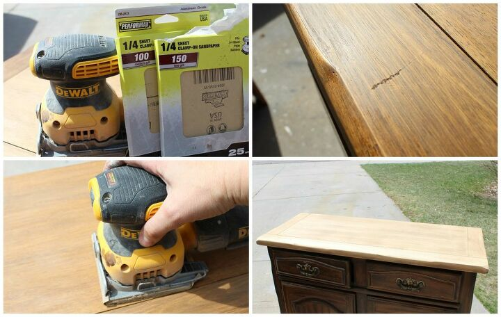 you need this simple guide to refinishing a dresser top
