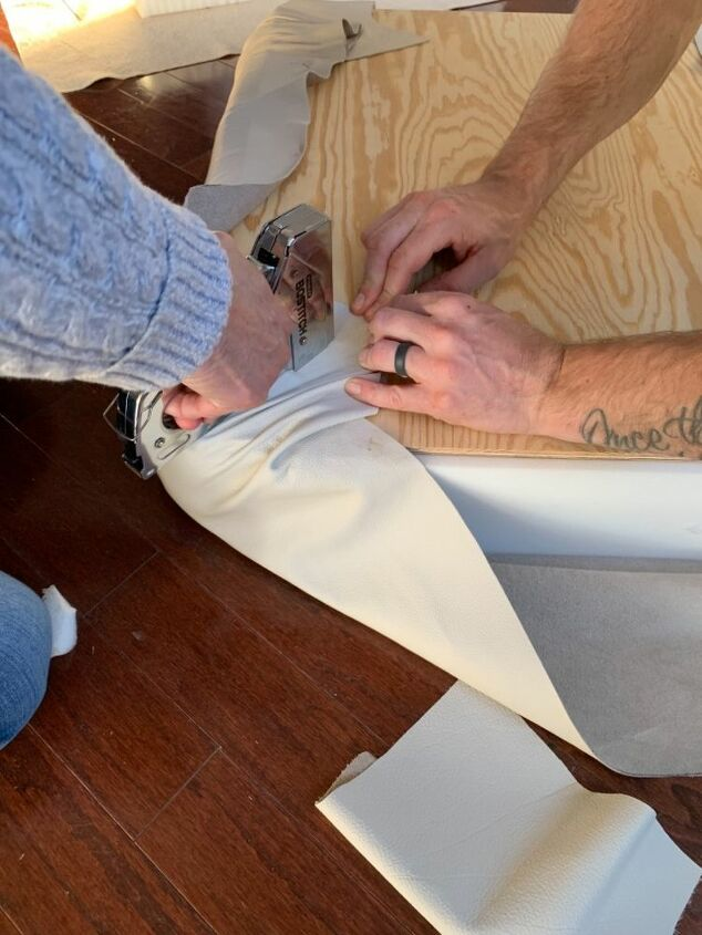 how to reupholster with leather