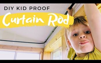 DIY Curtain Rod | Extra Large and Kid Proof