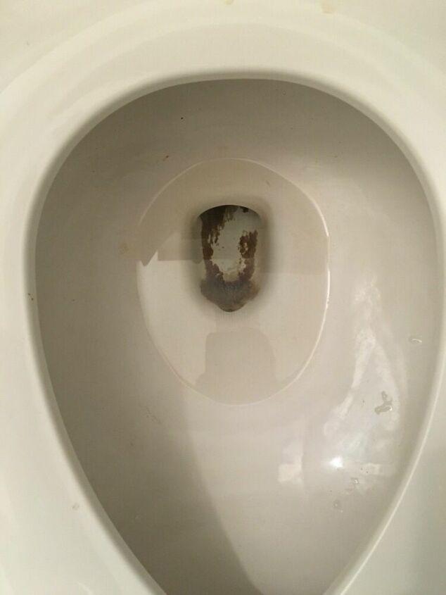 q black toilet bowl crust