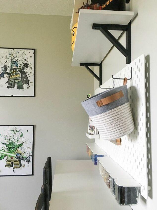 diy lego workstation using ikea skadis