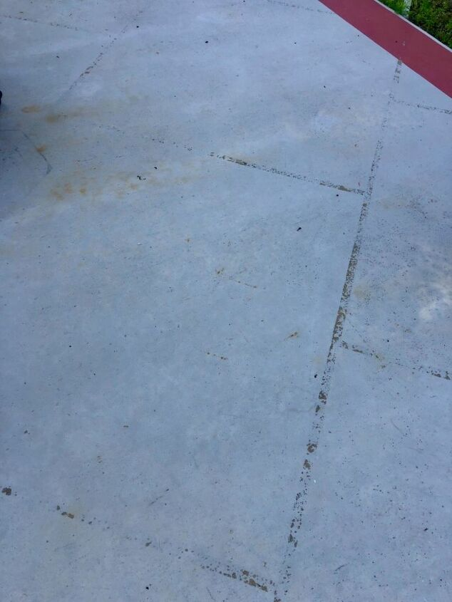 q concrete stain removal