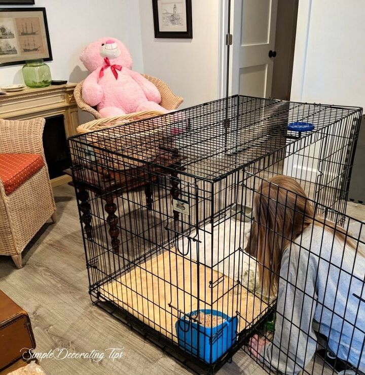 sew a dog kennel bunny hutch cover