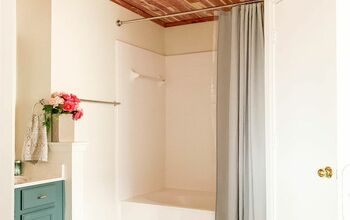DIY Cedar-Lined Bathroom Ceiling