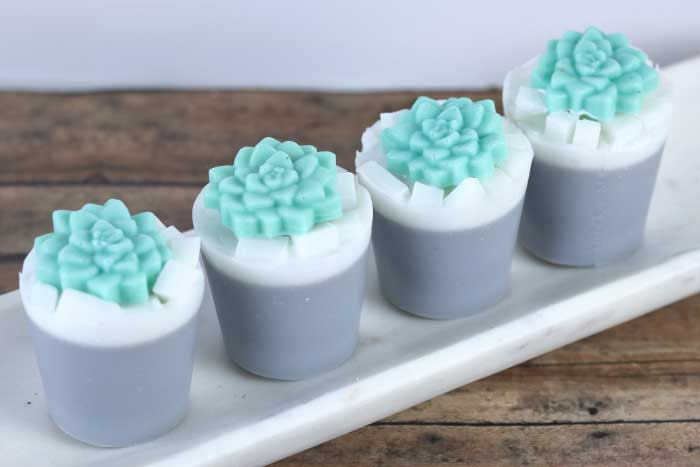 how to make succulent soap with melt and pour soap