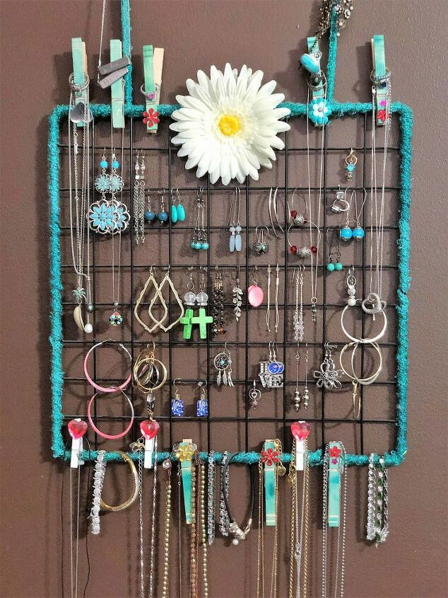 diy wall hanging jewelry organizer