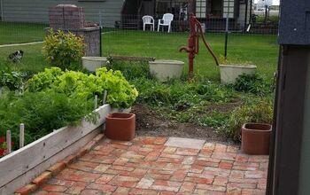 Adding Brick Pavers to the Garden Area