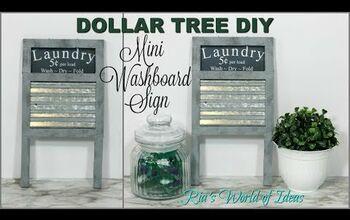 Dollar Tree DIY Washboard Laundry Room Sign