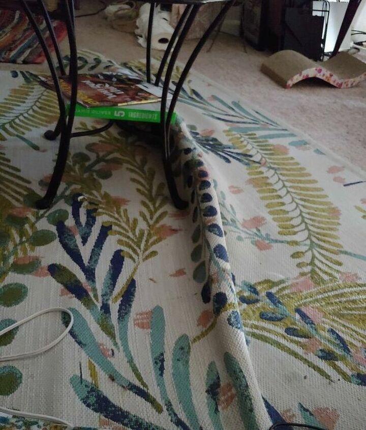 q how do i remove a fold bump in my throw rug