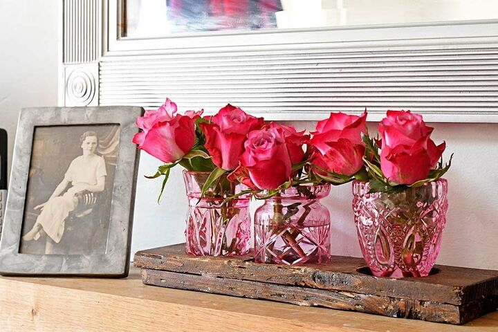 how to colour glass for gorgeous bud vases