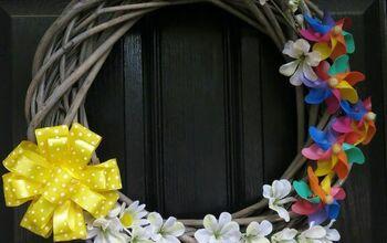 Pinwheel Spring Wreath