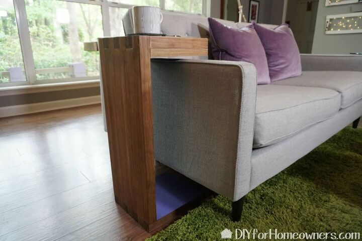 how to make a sofa c table with built in storage