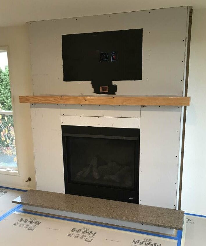 ugly fireplace makeover before and after