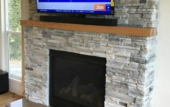 Ugly Fireplace Makeover – Before and After