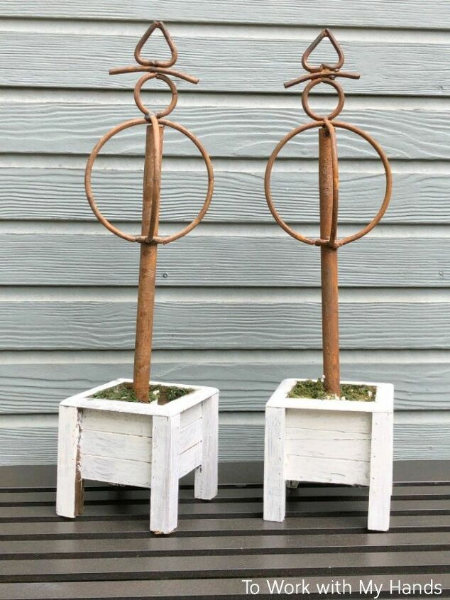 mini topiary upcycle a thrift store find