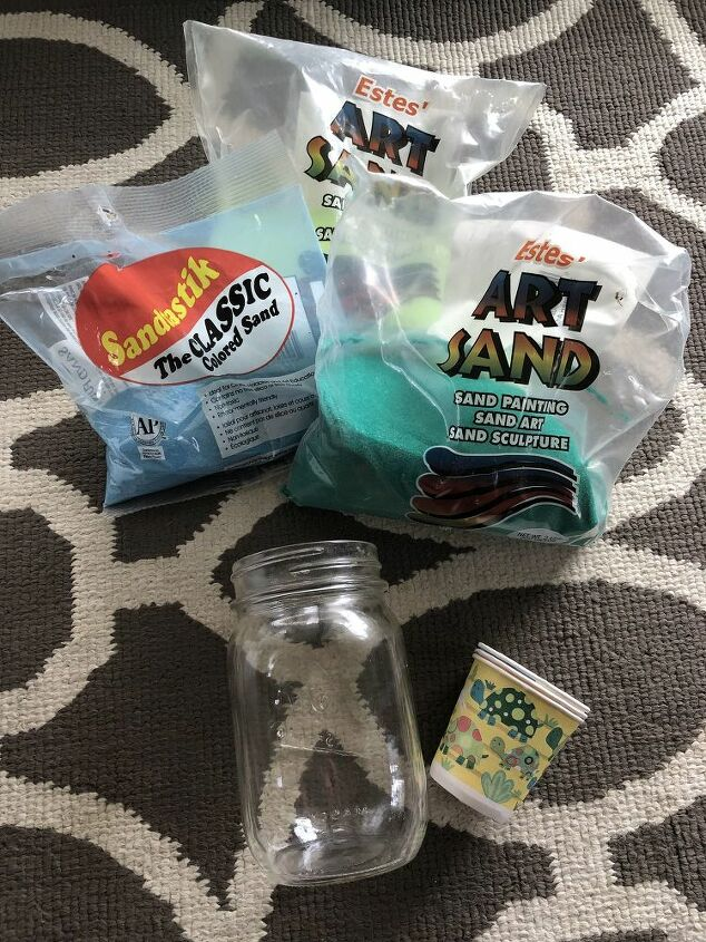 mini sand art bottle decor