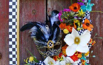 Mardi Gras Wreath..