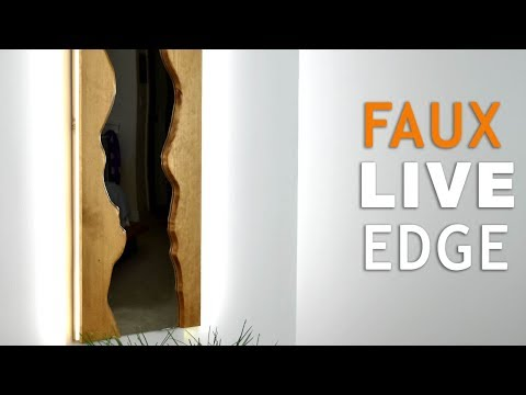 s live edge wood projects, Faux Live Edge Wooden Mirror
