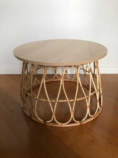 Basket Coffee Table Hack by Home Talk