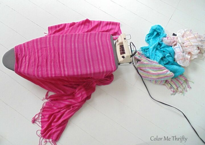 how to make no sew scarf curtains