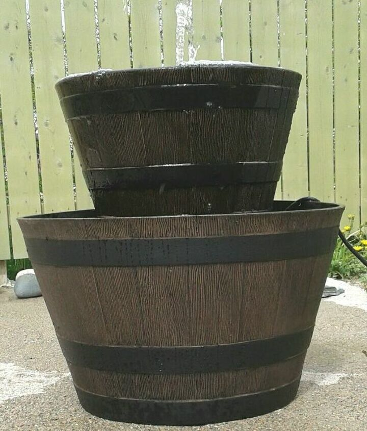 Resin Barrel Flowerpots