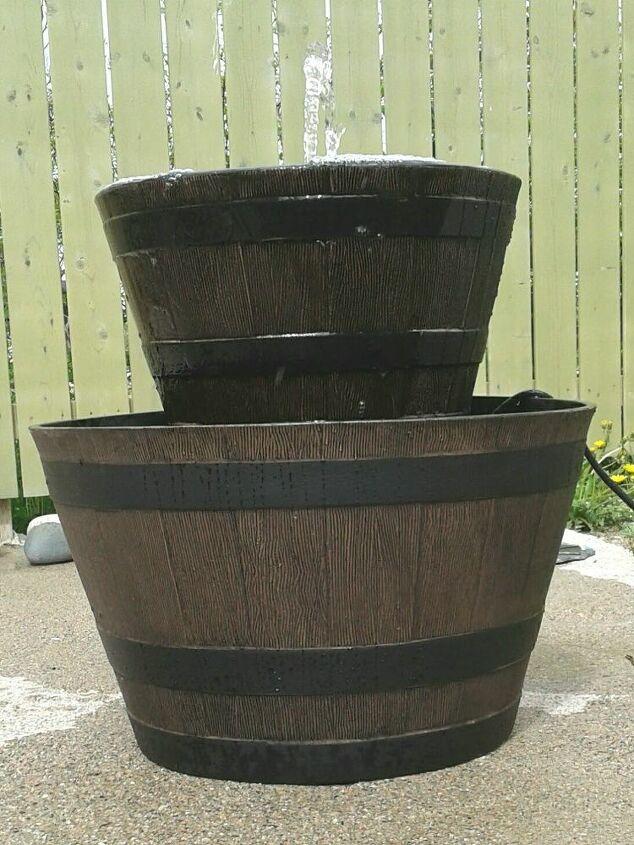Resin Barrel Flowerpots