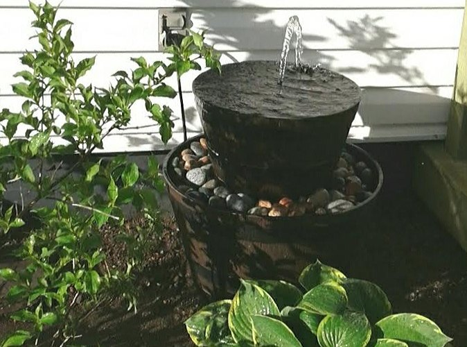 soothing sounds a diy outdoor fountain