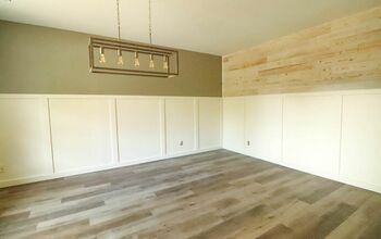 How To Get A Shiplap Look...WITHOUT Any Power Tools!