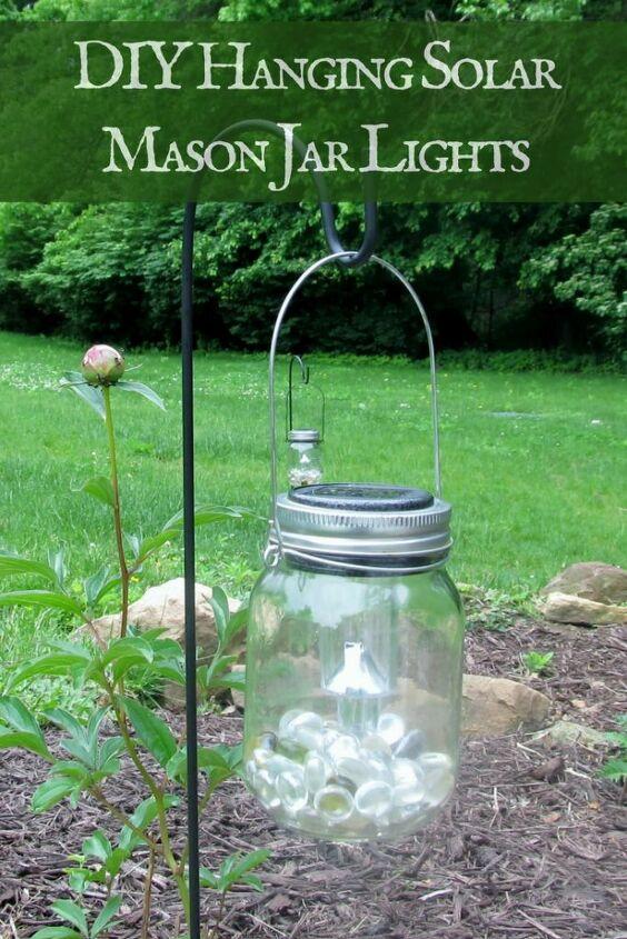 s solar lights ideas, Magical Mason Jar Hanging Solar Lights
