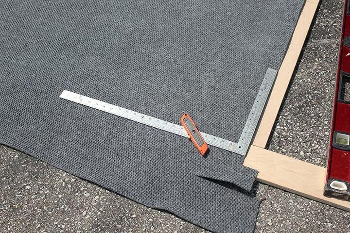 diy stencilled rug