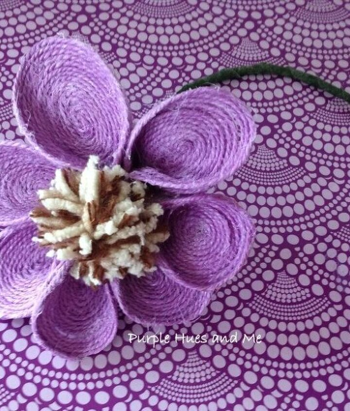 purple jute spoon flower diy