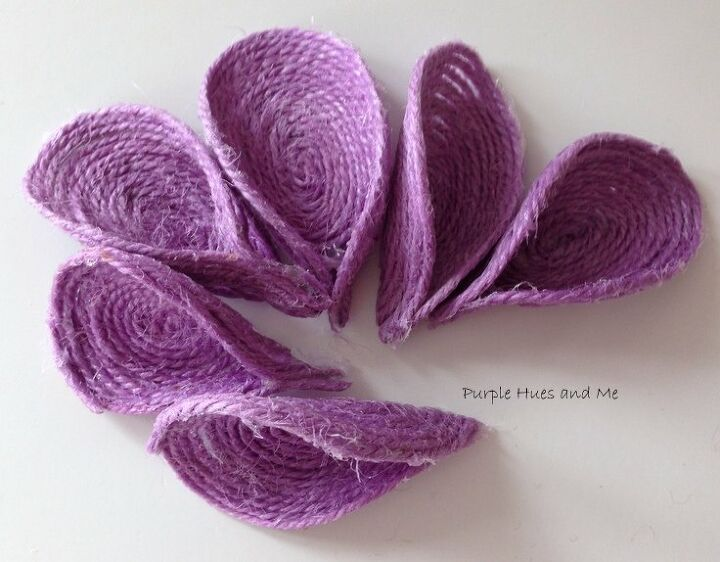 purple jute spoon flower diy