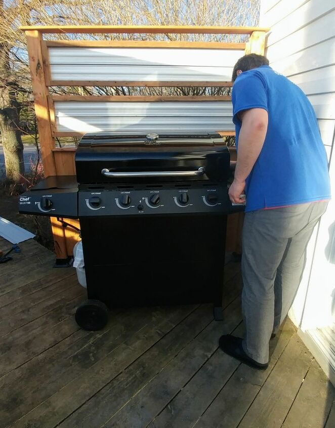 bbq deck privacy heat proof