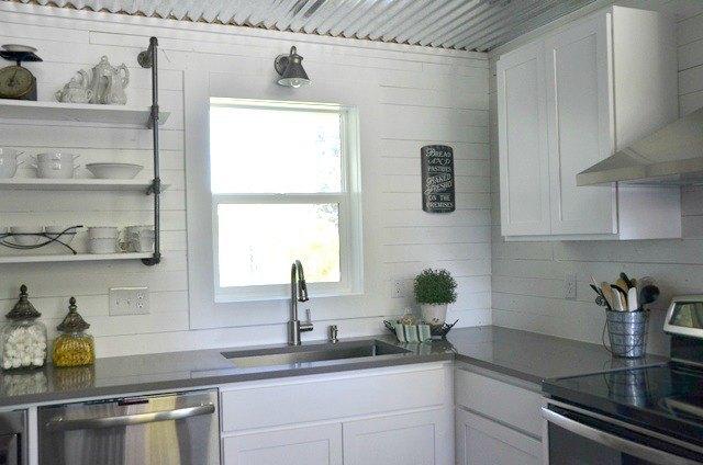 modern farmhouse kitchen ceiling