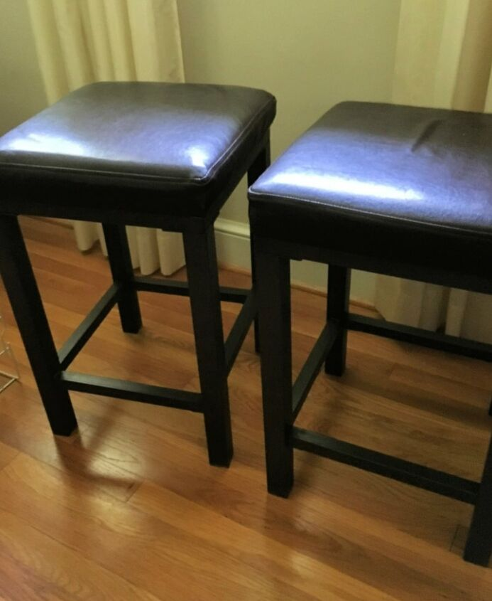 colorful painted bar stools