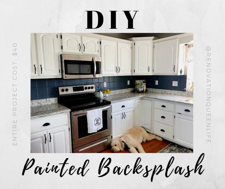 diy painted backsplash