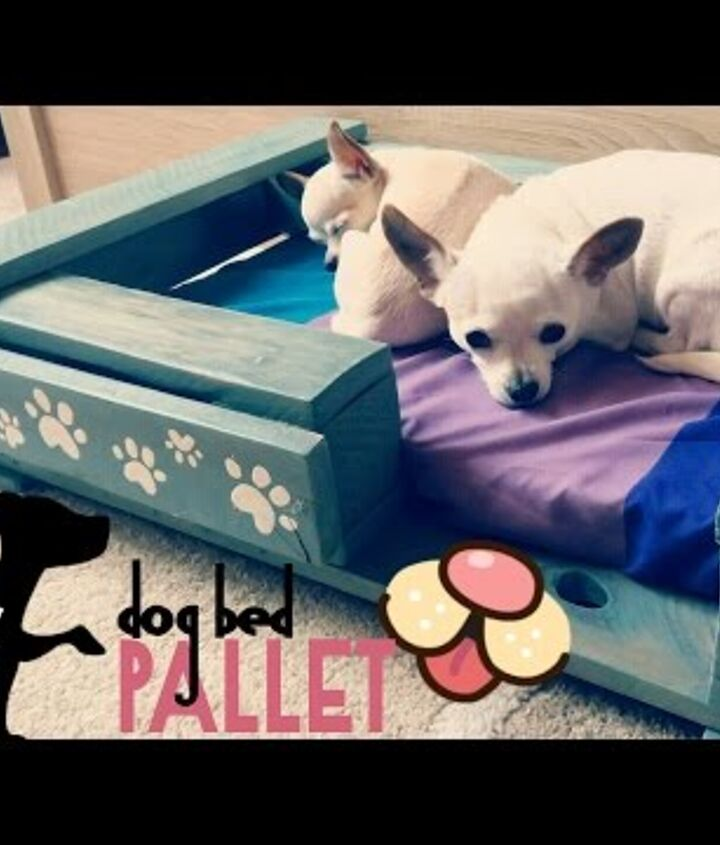 s pallet bed ideas, A Pallet Dog Bed