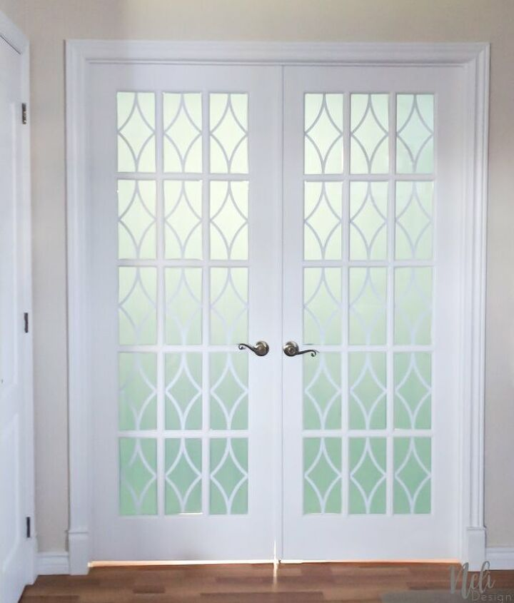 how to add privacy to french doors for only 13