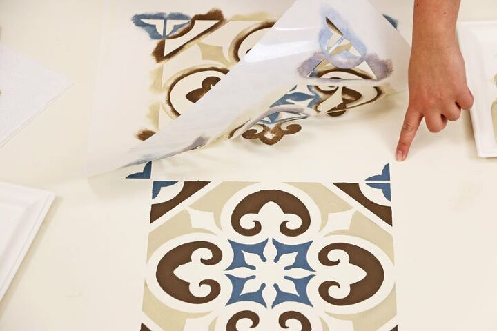 easy and affordable way to stencil tile floors